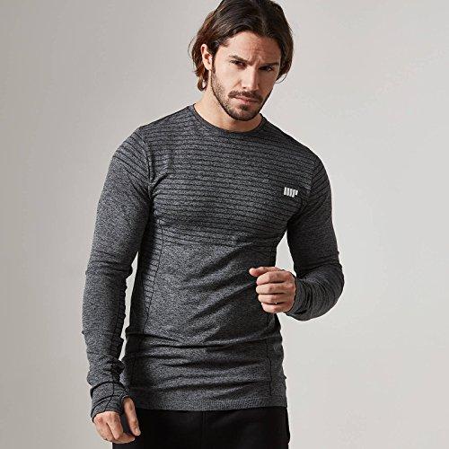 Myprotein Men's Seamless Long Sleeve t-Shirt (Nero, l)
