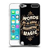 Official Harry Potter Words Magic Dumbledore Quote Deathly Hallows XIV Soft Gel Case Compatible for Apple iPod Touch 5G 5th Gen