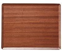 マホガニー 長角36cmトレー [ 36 x 28 x 1cm 334g ] [ 木製トレイ ]   飲食店 ホテル レストラン カフェ 業務用