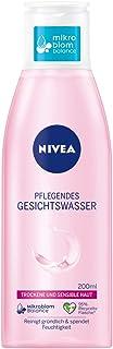 NIVEA Pflegendes Gesichtswasser für trockene und sensible Haut 200 ml, Gesichtspflege beruhigt die Haut, Gesichtstoner pflegt besonders zart mit Mandelöl
