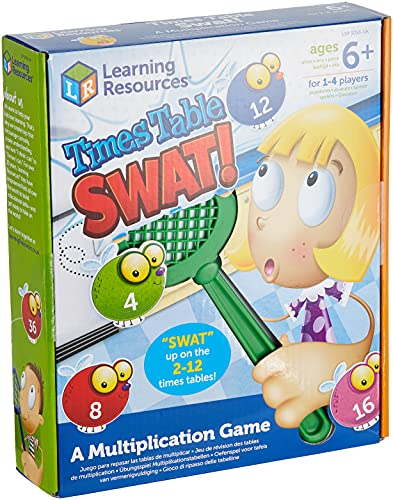 Juego para Practicar Las Tablas de multiplicar con matamoscas de Learning Resources