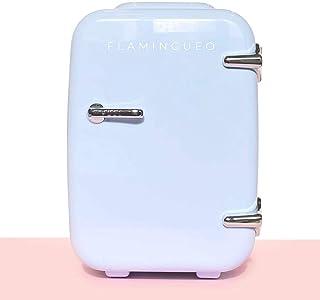 Flamingueo Mini Frigo de Chambre - Petit Frigo 4L , Mini Frigo Cosmetique, Frigo Portable, Réfrigérateur Électrique Portab...