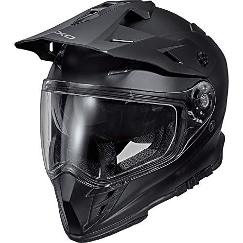 Nexo Motocross Helm Motorradhelm Cross Helm Enduro Helm MX-Line Endurohelm II mattschwarz M, Unisex, Cross/Offroad, Ganzjährig, Thermoplast, matt schwarz