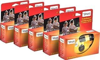 TopShot 376049 - Cámara desechable con flash 27 disparos ( 5 unidades) naranja