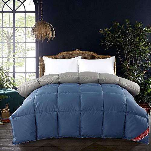 CHOU DAN single christmas duvet sets,Comfortable at night, it feels like down allergy-free light all-season duvet (double room)-150x200cm 4000g_Blue+grey
