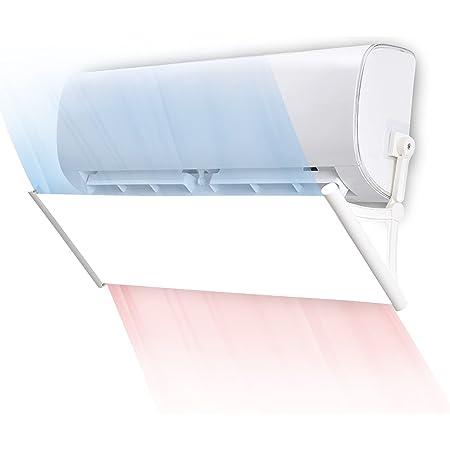 Deflettore aria condizionata in pasta antitraccia, retrattile fino a 125 cm, non necessita di foratura, parabrezza aria condizionata(bianca)