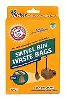 Arm & Hammer 71035 Swivel Bin Waste Bags, Penny, by Arm & Hammer