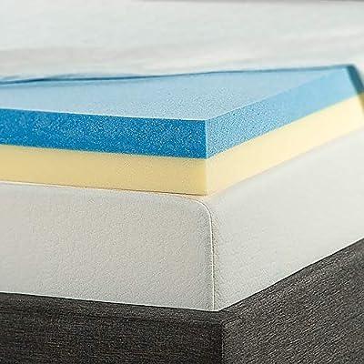 ZINUS 4 Inch Green Tea Cooling Gel Memory Foam Mattress Topper / Cooling Gel Foam / CertiPUR-US Certified, King