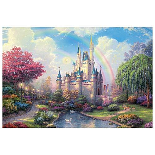 Puzzle-s for Erwachsene, Adult for Grown Ups, Bunte Schloss im Dschungel, 1000 Stück s