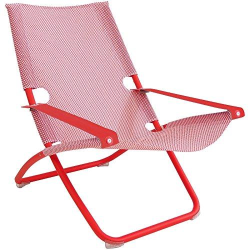 Emu - Snooze Liegestuhl - rot - A. Chiaramonte & M. Marin - Design - Gartenliege - Gartenstuhl - Sonnenliege - Sonnenstuhl - Terrassenstuhl