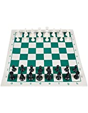 Chess Game Set w Rollable Board - 42x42cm