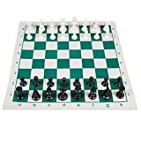 Andux Chess Game Set Piezas De Ajedrez y Tablero Enrollable QPXQ-01 (42cmx42cm)