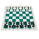 Andux Chess Game Set Piezas de Ajedrez y Tablero Enrollable QPXQ-01 (34cmx34cm)