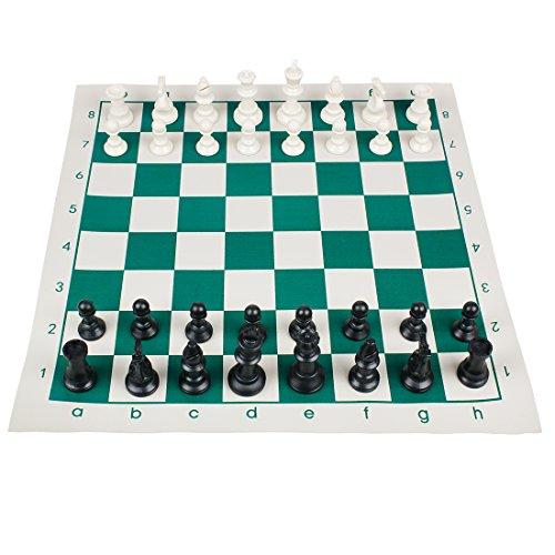 Andux Juego de ajedrez Completo Tablero Plegable Casillas QPXQ-01 (42cmx42cm)