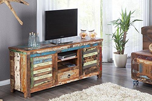 DuNord Design TV Board Lowboard MADRAS kleurrijk 150 gerecycled hout massief hout massief hout TV meubel
