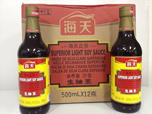 海天醤油 生抽王【中国薄口しょうゆ】500mlx12本/ケース