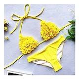 GlISR Floral Bikinis 2020 Micro Bikini de Micro Bikini Tanga Biquini Traje de baño Traje de baño Femenino Volante del Juego de natación for Las Mujeres (Color : DJ325205, Size : L)