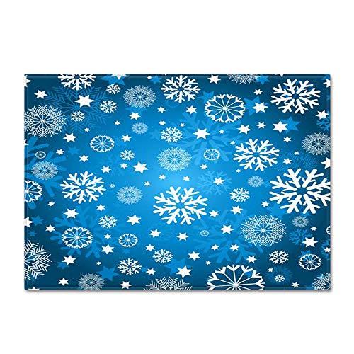 Alfombra Salon Copos de nieve azules 200 x 300 cm Alfombras Modernas Super Suaves de la Pelusa,Dormitorio Sala de Estar Alfombra Antideslizante Alfombra de la Alfombra para el Juego de los niños
