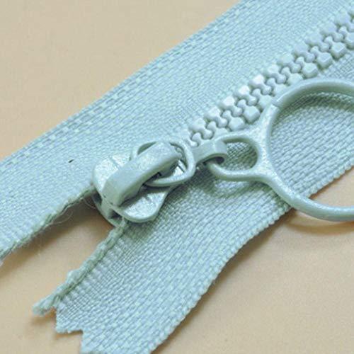 HJCWL 1 stks rits voor kledingaccessoires nr. 3 hars ritsen voor het naaien decoratieve kinderen kleur rits trekker slaapzak, lichtblauw, open 60cm