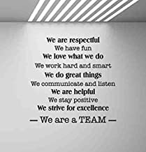 In This Office We Are a Team Wall Decal Teamwork Office Quote Gift Inspirational Sayings Lettering Vinyl Sticker Motivational Gift Decorations Home Bedroom Decor Art Poster Mural Custom SW 747