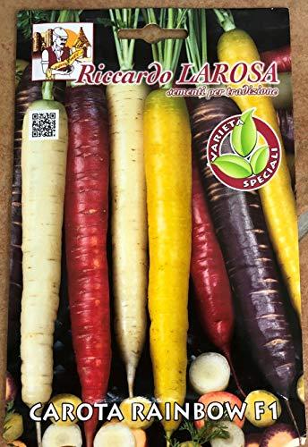 Carota Rainbow F1 Mix Semi Carote Colorate Rossa Viola Giallo Bianca