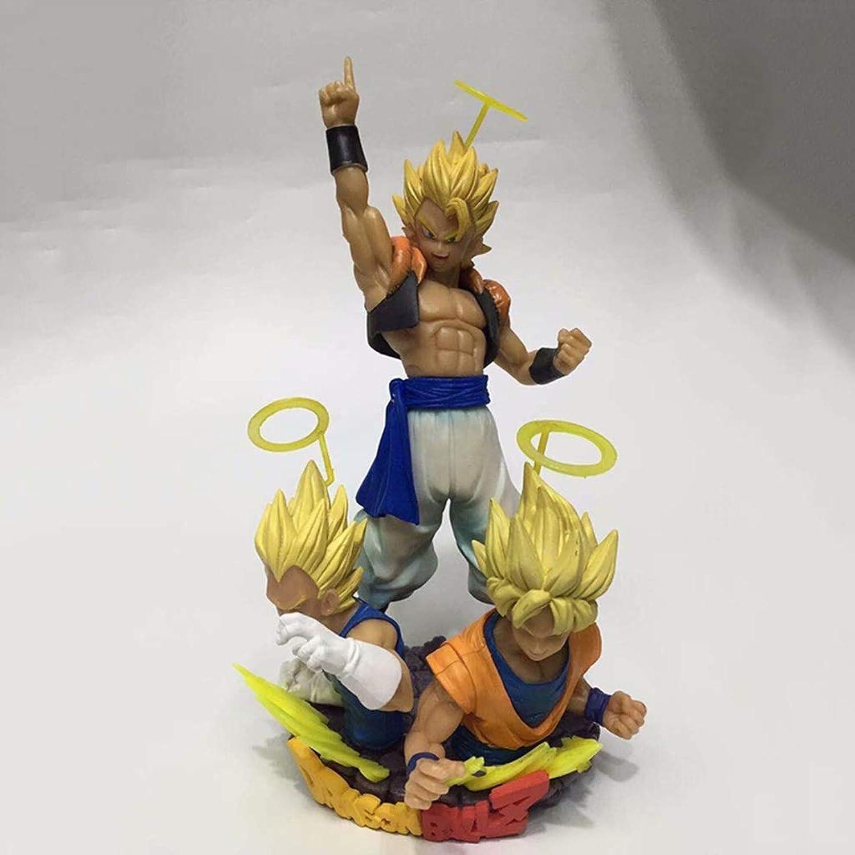 HBJP vestibilità Goku e Vegeta, Artigianato Personaggio della Collezione di Giocattoli in PVC, Ornamenti modellolo di Statua Giocattolo, modellolo Anime Dragon Btutti Sette (14cm)