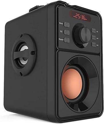LAKD Altoparlante Bluetooth Stereo Subwoofer Bluetooth Altoparlante Wireless Portatile Tf FM USB Stereo Stereo Speaker Bass Silent Lettore di Musica Nera - Trova i prezzi più bassi