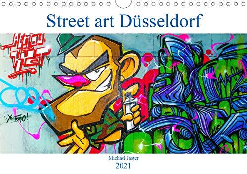 Street art Düsseldorf Michael Jaster (Wandkalender 2021 DIN A4 quer)