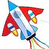 HENGDA KITE for Kids New Cartoon Fighter Plane Kite Single Line Kite Flying for Children Kids Outdoor Toys Beach Park Playing