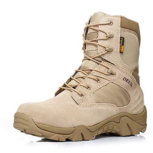 Aegilmc Los Militares del Desierto Botas Tácticas, Delta Militar para Los Hombres del Comando De Las Tácticas De Combate País Zapatos Botas De Montaña Montañismo Botas De Cordones