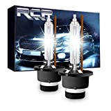 RCP - D2S4 - (A Pair) D2S/ D2R 4300K Xenon HID Replacement Bulb Factory White Warm White Metal Stents Base 12V Car Headlight Lamps Head Lights 35W