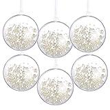 Awtlife - Juego de 20 Bolas de Navidad de acrílico Transparente para decoración de árbol de Navidad, 60 mm