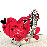 Lovepop Disney's Tim Burton's The Nightmare Before Christmas Simply Meant to Be Pop Up Card - 3D Cards, Valentine's Day Cards, Card for Wife, Anniversary Card, Disney Greeting Card, Romance Card