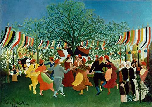 Un centenaire d'indépendance par Henri Julien Rousseau. 100% peint à la main. Reproduction de haute qualité. Livraison gratuite (non encadrée et non étirée). Taille de la peinture: 152,4x42cm.