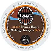 Tully's French Roast Grand Dark DECAF Coffee * 1 Box of 24 K-Cups *
