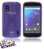 Muzzano F5742 - Funda para Google Nexus 4, color violeta