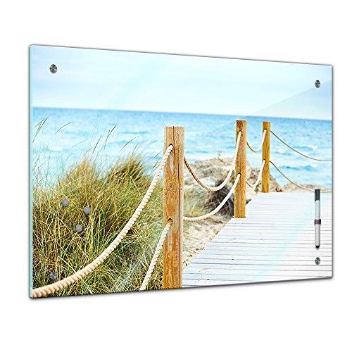 Bilderdepot24 Memoboard 60 x 40 cm, Landschaft - schöner Weg zum Strand