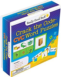 Really Good Stuff Crack The Code Word Puzzle (CVC Words)