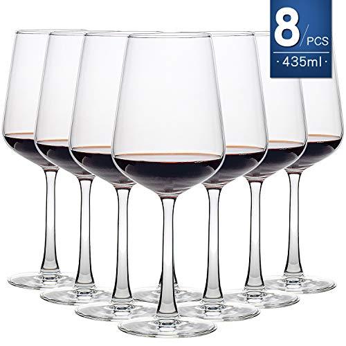 Juego de 8 copas de vino 435ML transparente