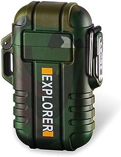Q-XIAOKEAI, Isqueiro de pulso de plasma à prova d'água com dois arcos, USB recarregável, para uso ao ar livre, colorido