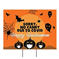 Image: Sorry No Candy This Year Halloween Yard Sign | Brand: PersonalizedPartyBanners