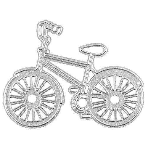 Stanzschablone, Fahrrad, 5,8cm x 7,6cm, passend für gängige Stanzmaschinen | Schablone zum Gestalten von Kartenauflegern, Anhängern, Grußkarten | Vintage, Retro, Bike