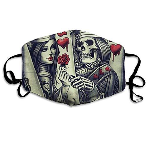 Mode Anti-Verschmutzungs-Maske König und Königin Karte Tattoos Staub Gesichtsmasken wiederverwendbar