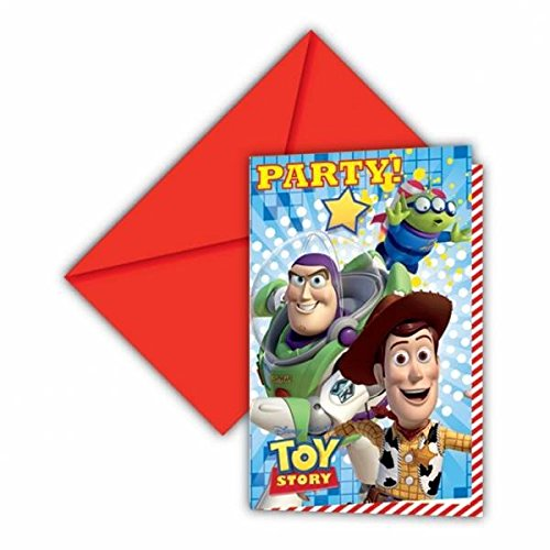 6 invitations carton Toy Story Star Power - taille - Taille Unique - 216314