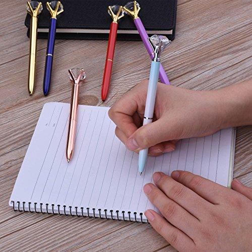 Crystal Diamond Pen 12PCS Crystal Diamond Pen Bling Bling Metal Ballpoint Pen for School Office 12 Different Colors With 12 Pack 3.2'' Ballpoint Pen Refills (12 Crystal Diamond Pen) Photo #4