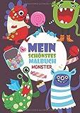 Mein schönstes Malbuch: 50 wunderschöne Monster-Motive zum Ausmalen für Kinder ab 4 Jahren.