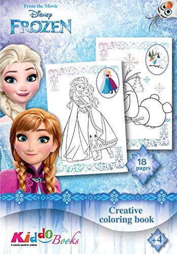 QuackDuck Disney Malblock Frozen - Die Eiskönigin - Völlig unverfroren - Creative Coloring Book - Malen nach Malvorlagen (9005)
