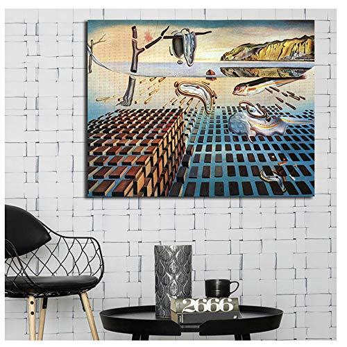 La desintegración de la persistencia de la Memoria Wall Art Pictures Cuadros para la Sala de Estar Home Decor Poster Painting 60x90cm sin Marco