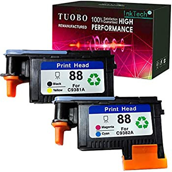 Tuobo Compatible Ink Cartridge Replacement for 88XL High Yield Ink Used in OfficeJet Pro L7480 L7500 L7550 L7555 L7580 L7590 L7600 L7650 L7680 L7681 L7700 L7750 L7780  1Set 88 Printhead
