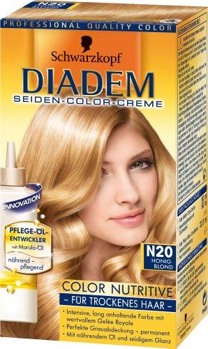 Schwarzkopf Diadem Seiden-Color-Creme Stufe 3, Color Nutritive N20 Honigblond  147 ml